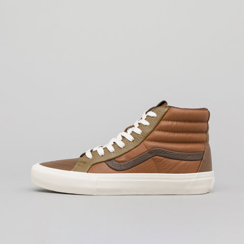 Vans Vault Sk8-Hi Reissue Premium Leather in Multi Brown - Notre