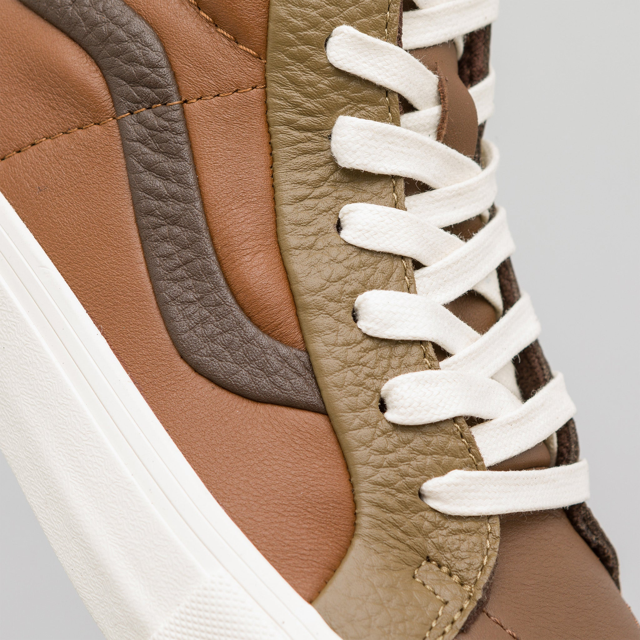 Sk8-Hi Reissue Premium Leather in Multi Brown