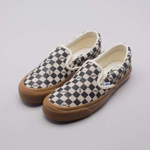 Vans Vault OG Slip-On 59 LX Gum Sole in Checkerboard - Notre