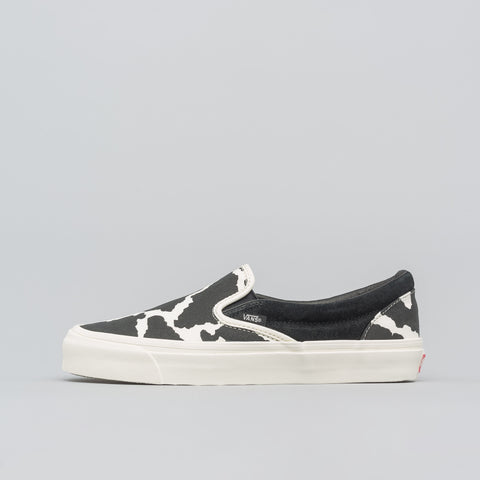 Vans Vault Classic Slip-On Cow Pattern in Black/White - Notre