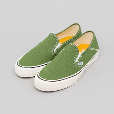 Vans Slip-On SF Salt Wash in Garden Green - Notre