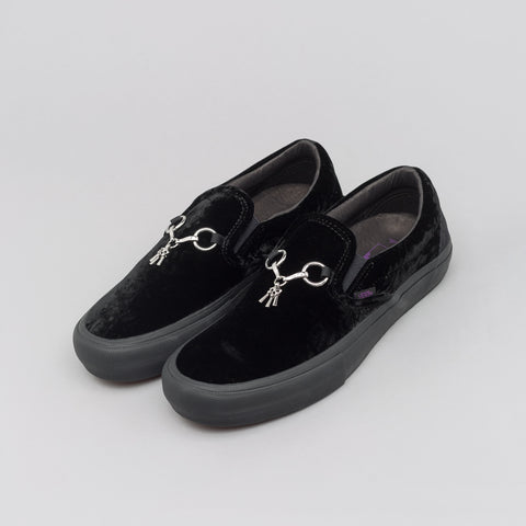 Vans Vault x Needles Classic Slip-On Velvet in Black - Notre