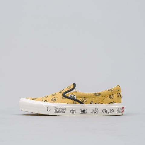 Vans Vault x Brain Dead Slip On LX in Golden - Notre