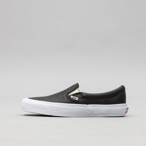 Vans Vault OG Classic Leather Slip-On in Black - Notre