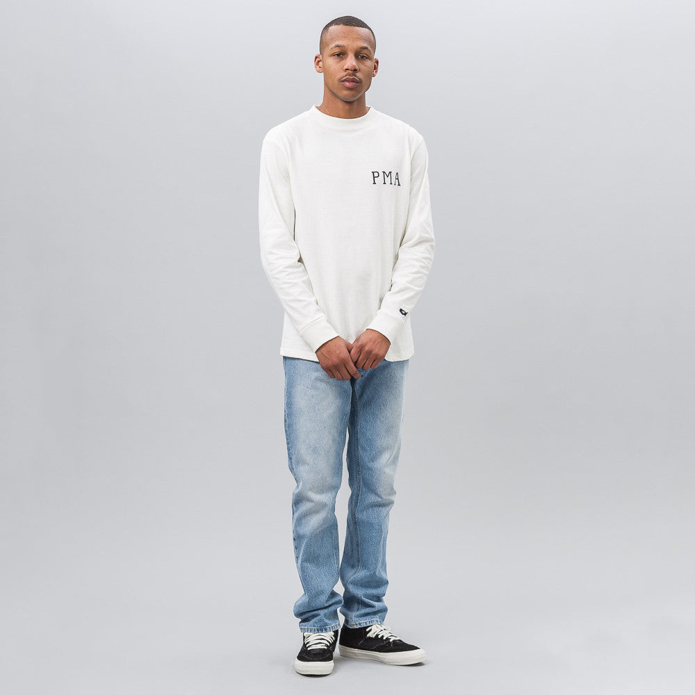 Vans Vault Vans Vault x Our Legacy Long Sleeve Tee in Marshmallow - Notre