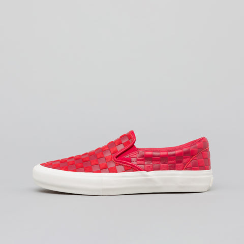 Vans Vault x Engineered Garments Classic Slip-On in Red - Notre