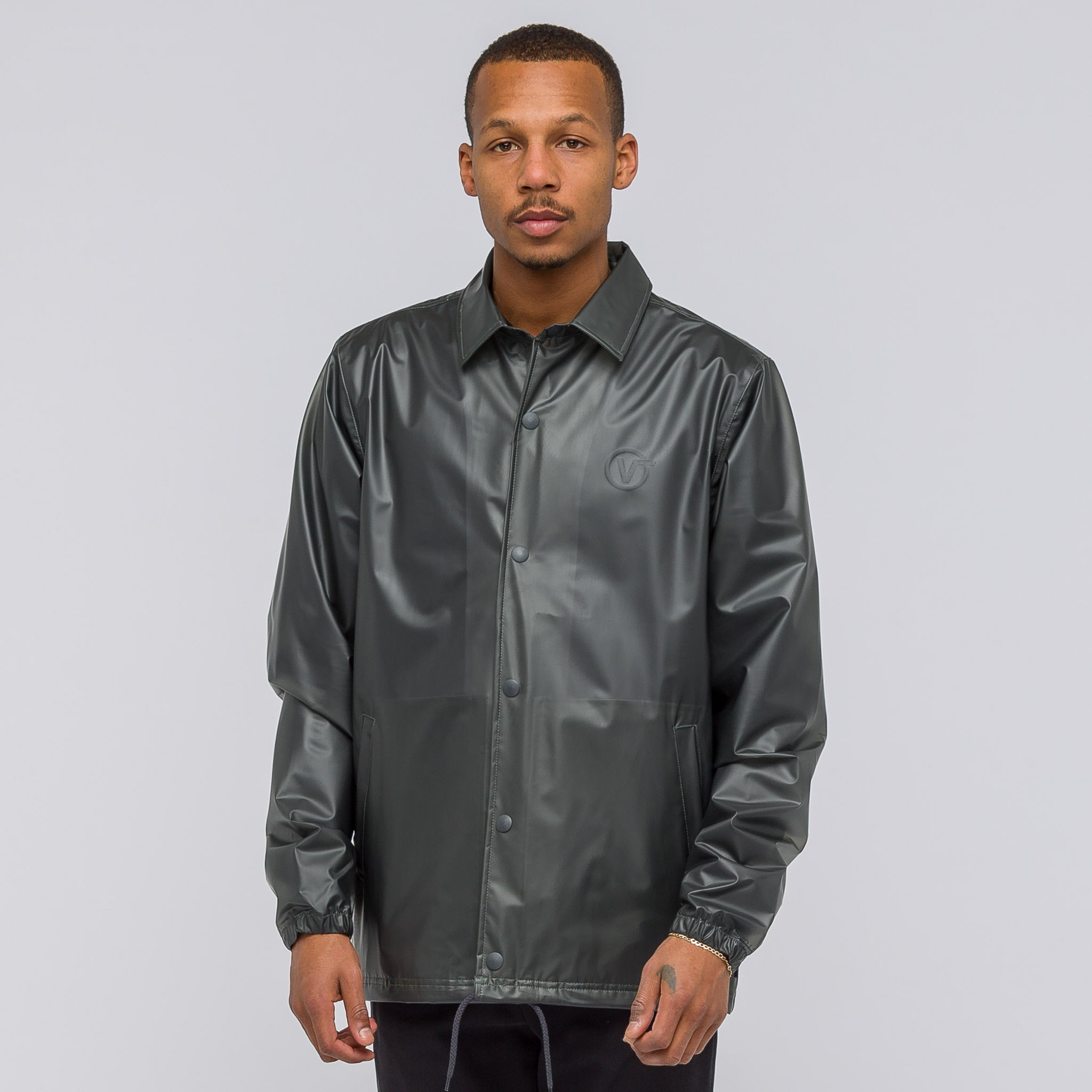x LQQK Studio Coaches Jacket in Clear Grey