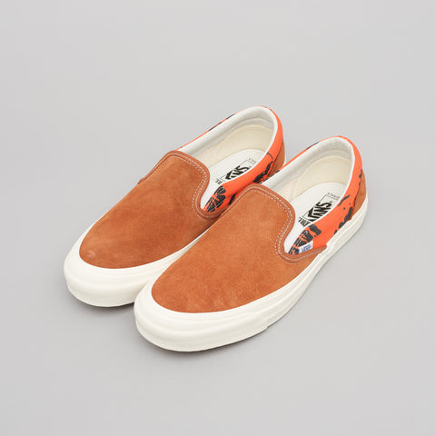 Vans Vault x Modernica OG Classic Slip On LX in Leather Brown/Hawaiian - Notre