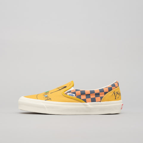 Vans Vault x Ralph Steadman Gonzovationist OG Classic Slip-On in Yellow/Blue - Notre