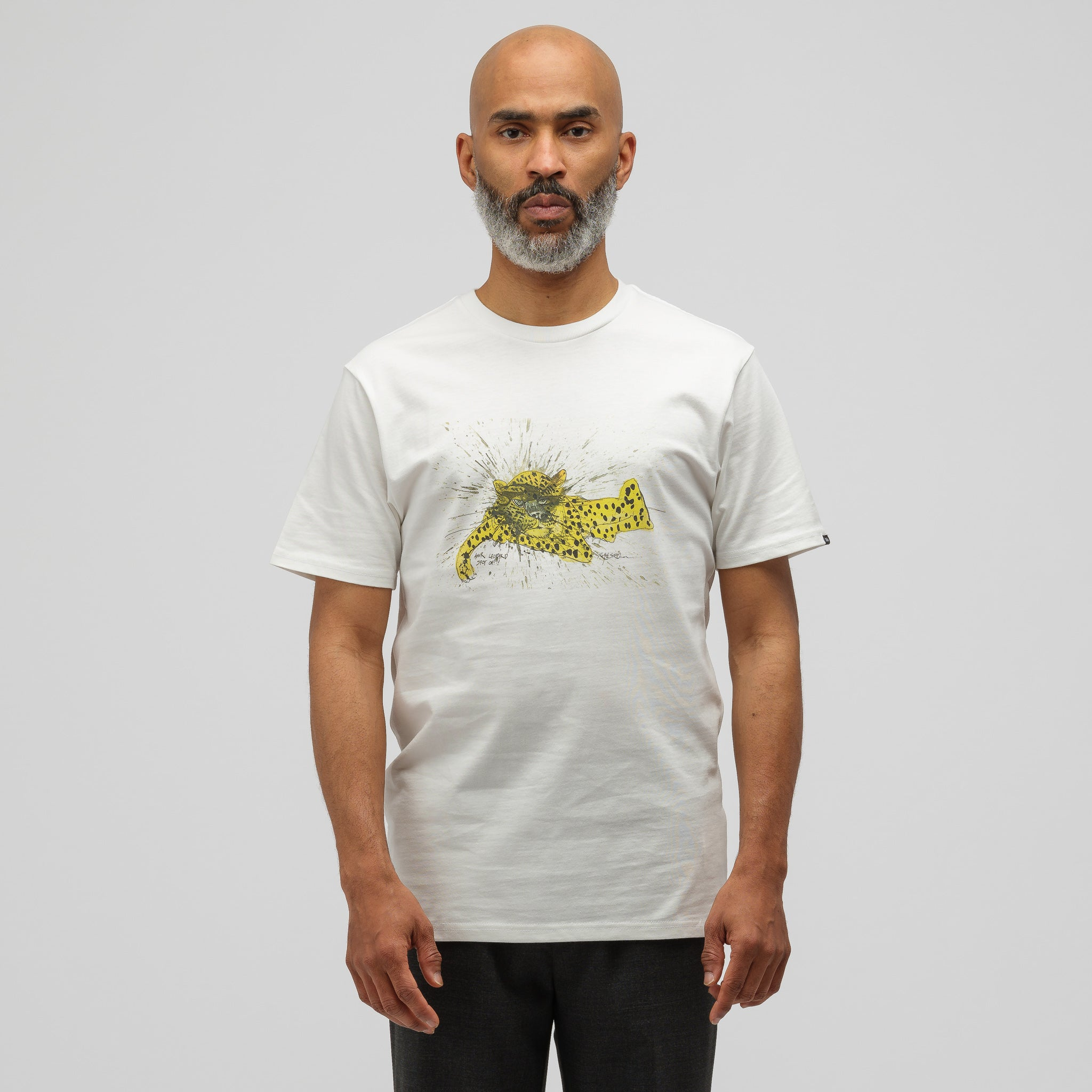 x Ralph Steadman Amur Leopard T-Shirt in White