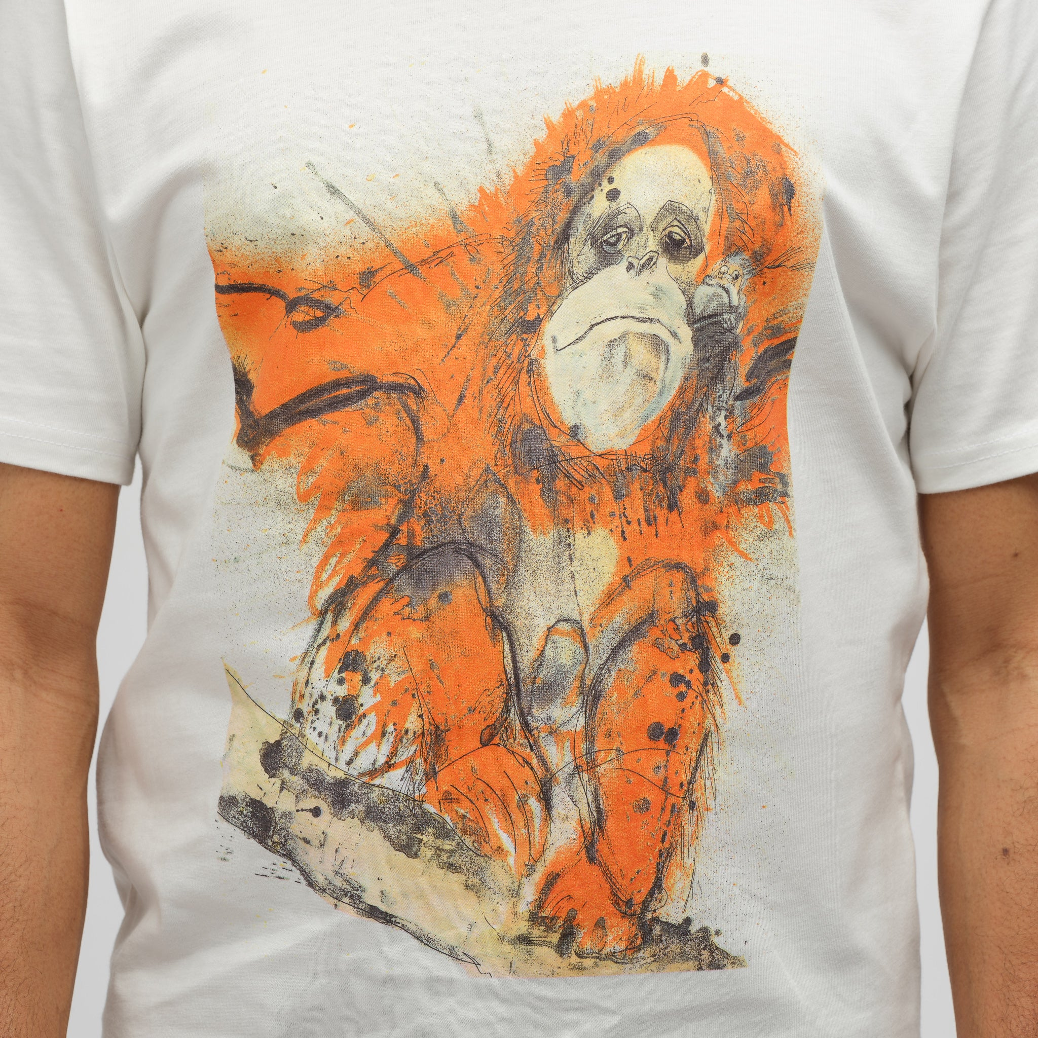 x Ralph Steadman Orangutan T-Shirt in White