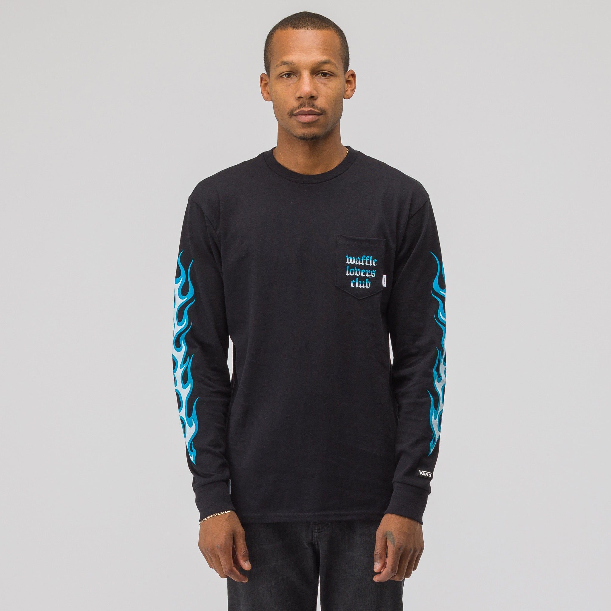 x WTAPS Flame Longsleeve T-Shirt in Black/Blue