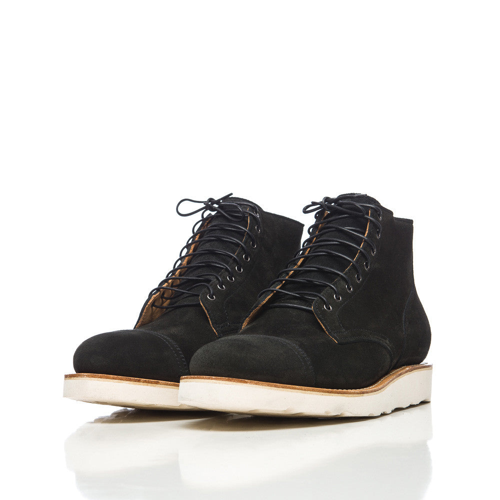 Viberg - Service Boot in Black Calf Suede - Notre - 1