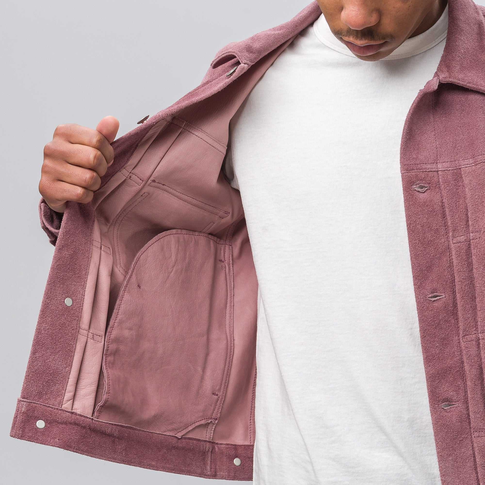 101 Jacket in Purple Suede