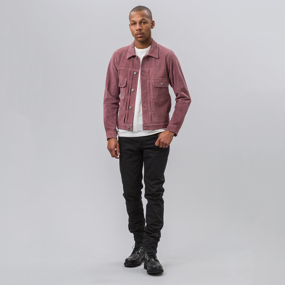 visvim 101 Jacket in Purple Suede - Notre