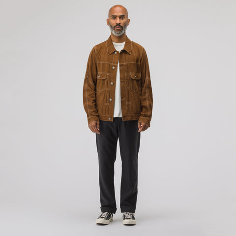visvim 101 Jacket Veg Goat in Brown - Notre