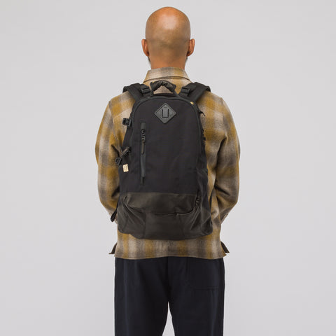 visvim 20L Cordura Backpack Veg Lamb in Black - Notre