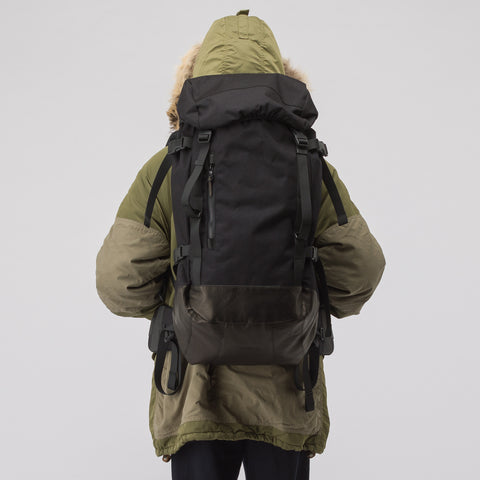 visvim 55L Cordura Backpack Veg Lamb in Black - Notre