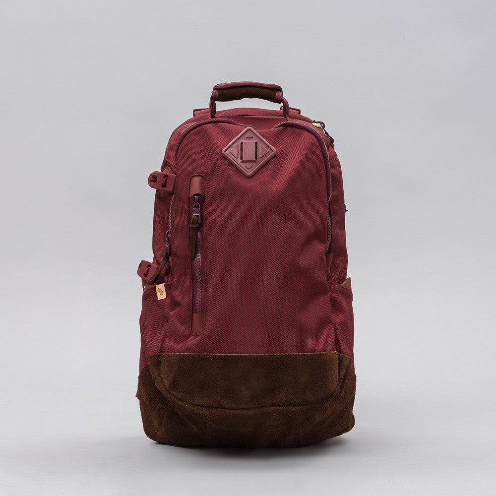 visvim Ballistic 20L Backpack in Burgundy Notre 1
