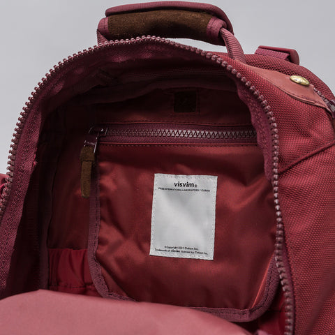 visvim Ballistic 20L Backpack in Burgundy - Notre