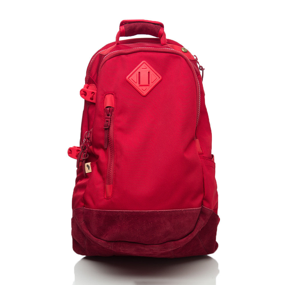 visvim Ballistic 20L Backpack in Red Front View