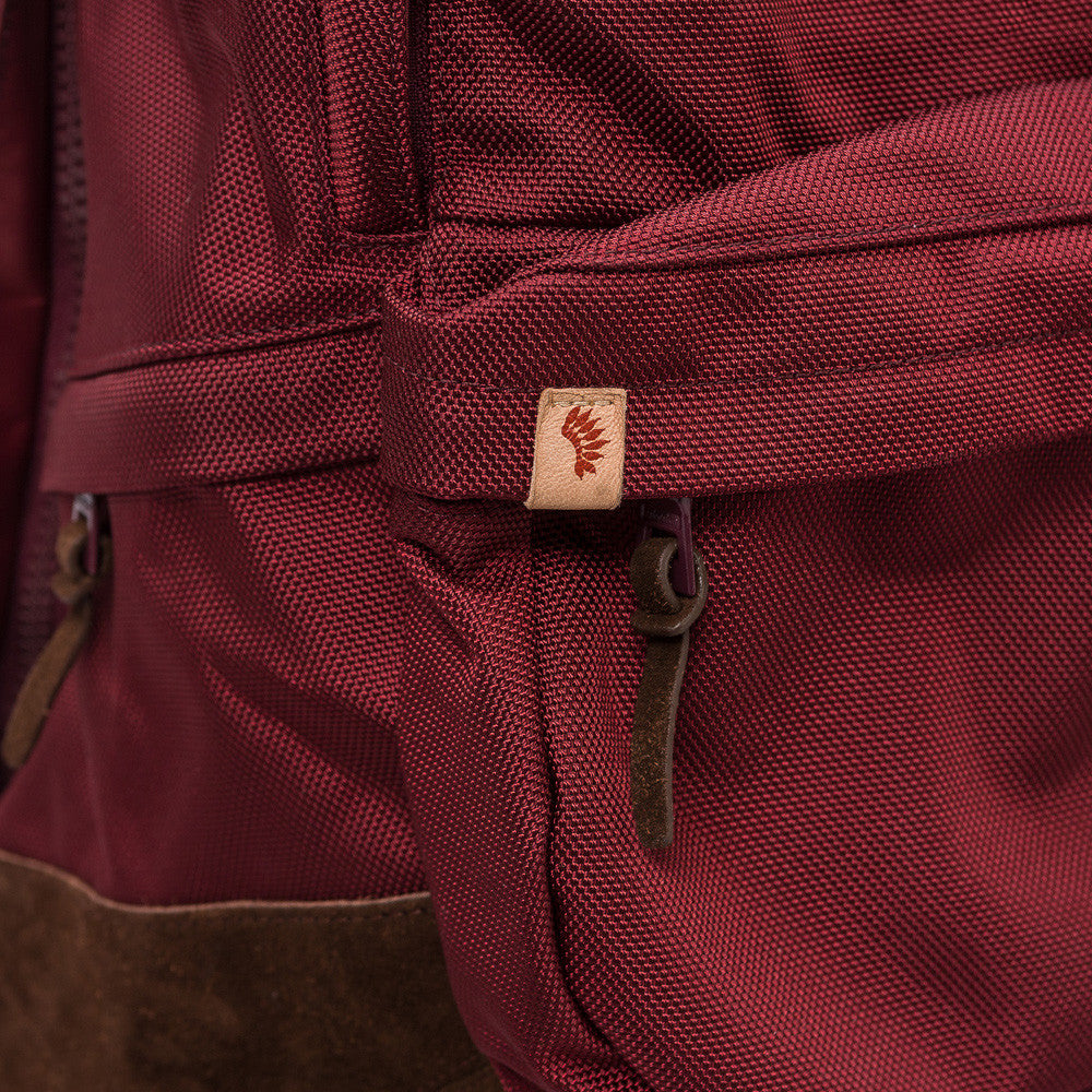 visvim Ballistic 22L Backpack in Burgundy Notre 1