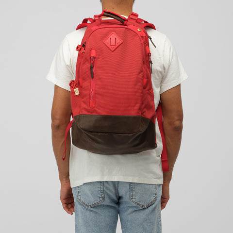 visvim 20L Cordura Backpack Veg Lamb 2019 in Red - Notre