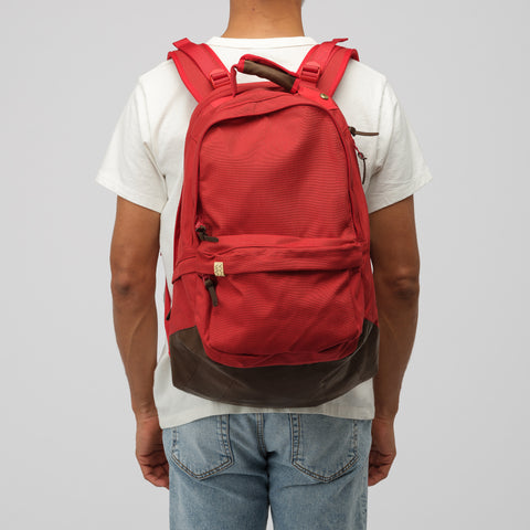visvim 22L Cordura Backpack Veg Lamb 2019 in Red - Notre