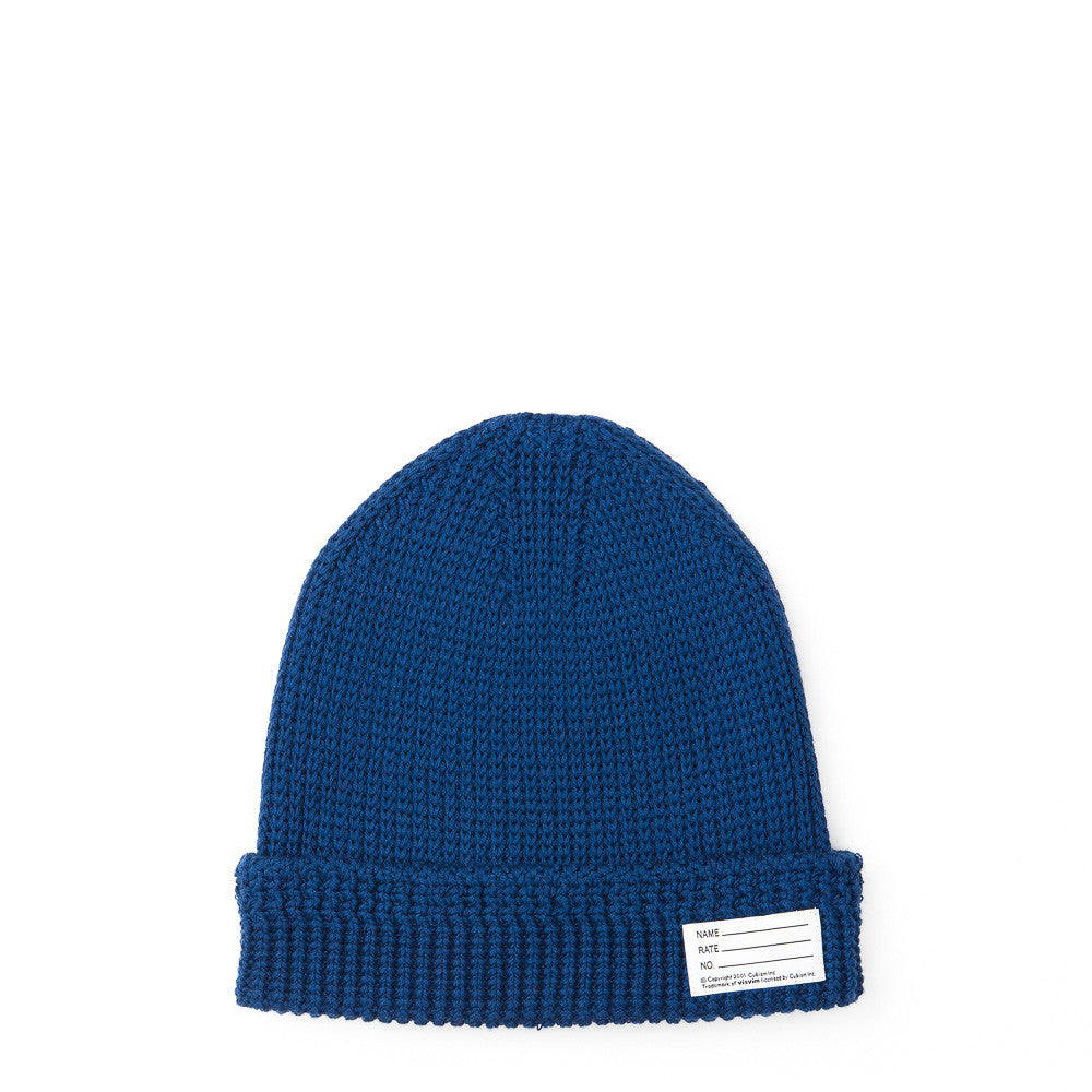 visvim Cotton Knit Beanie in Blue