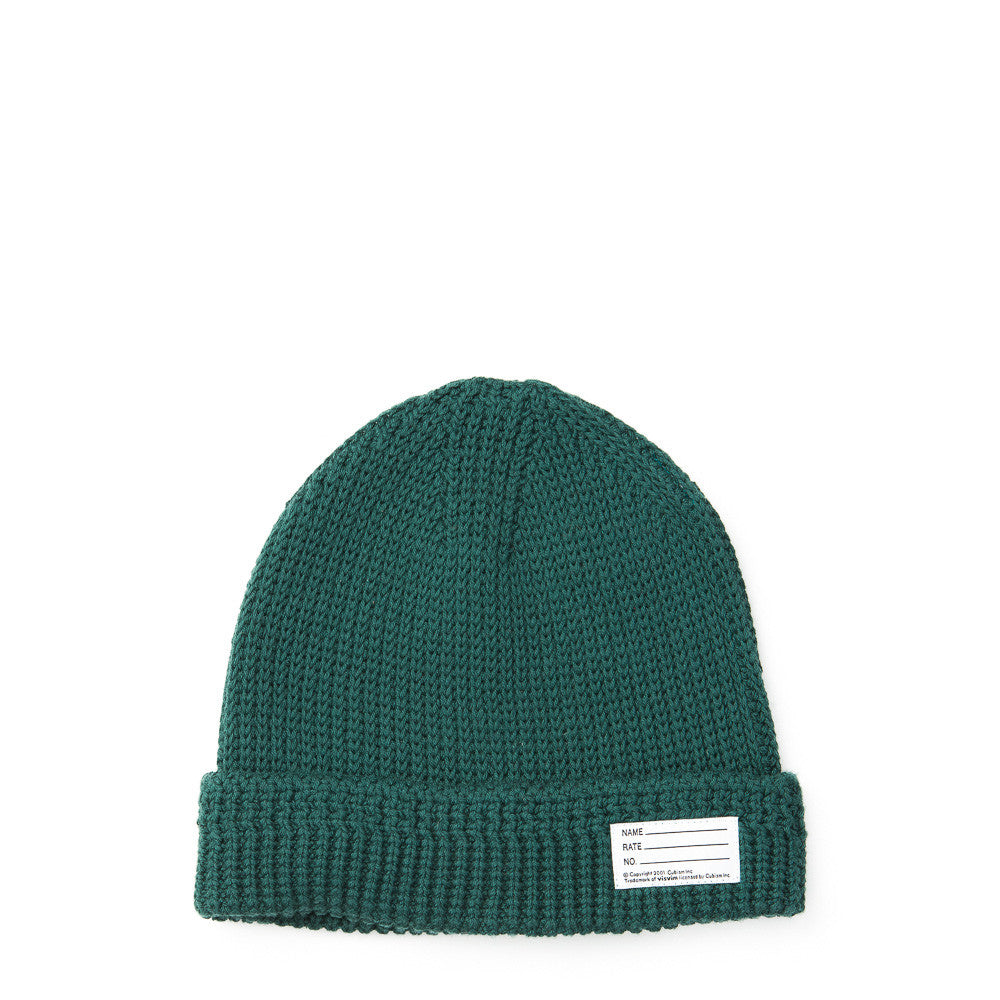 visvim - Cotton Knit Beanie in Green - Notre - 1