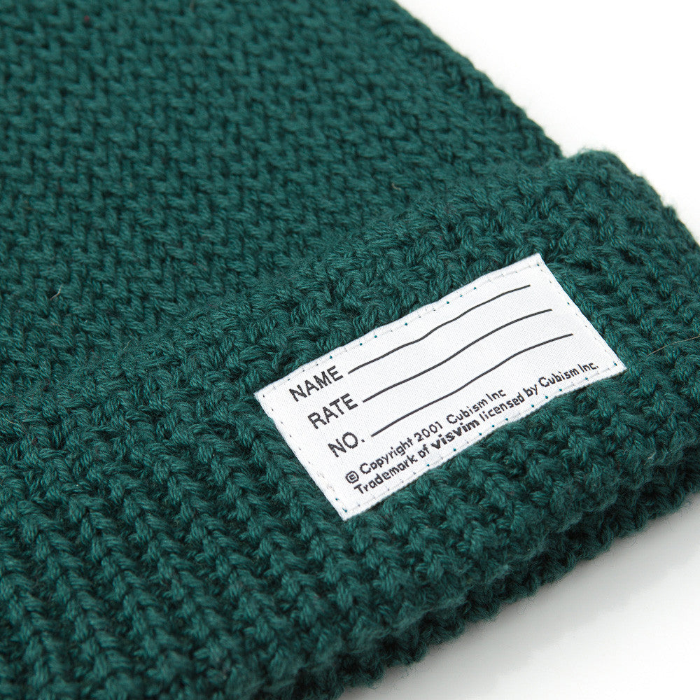 visvim Cotton Knit Beanie in Green
