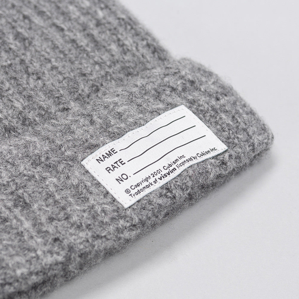 visvim Wool Knit Beanie in Grey - Notre
