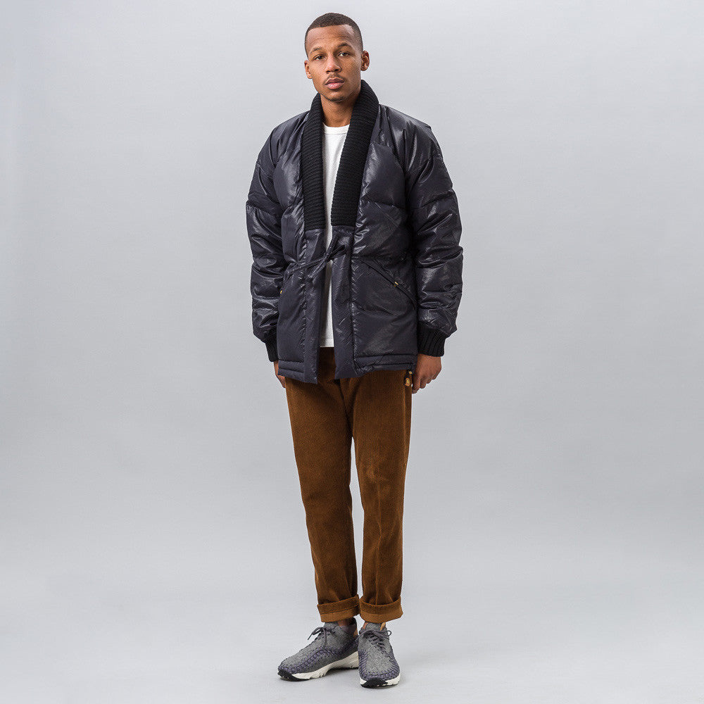 visvim Dotera Down Coat in Black Notre 1