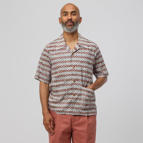 visvim Ellery Short Sleeve Shirt  in Brown - Notre