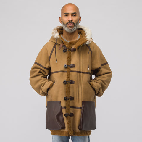 visvim Hudson Veg Shearling Jacket in Brown - Notre