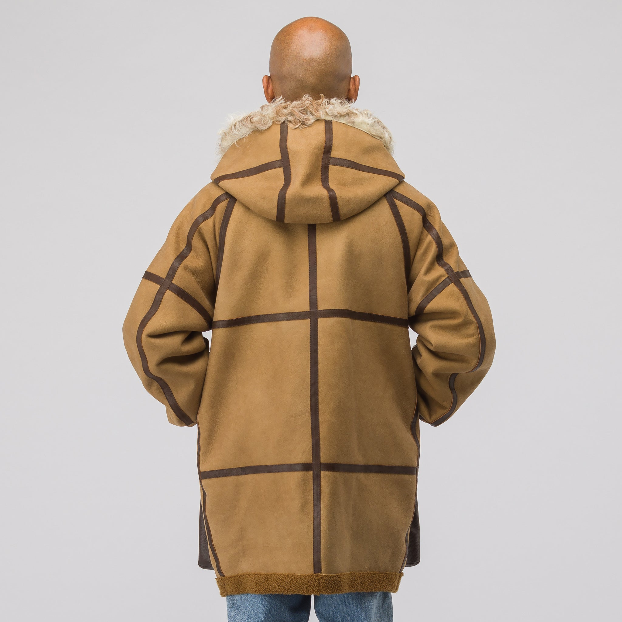 Hudson Veg Shearling Jacket in Brown