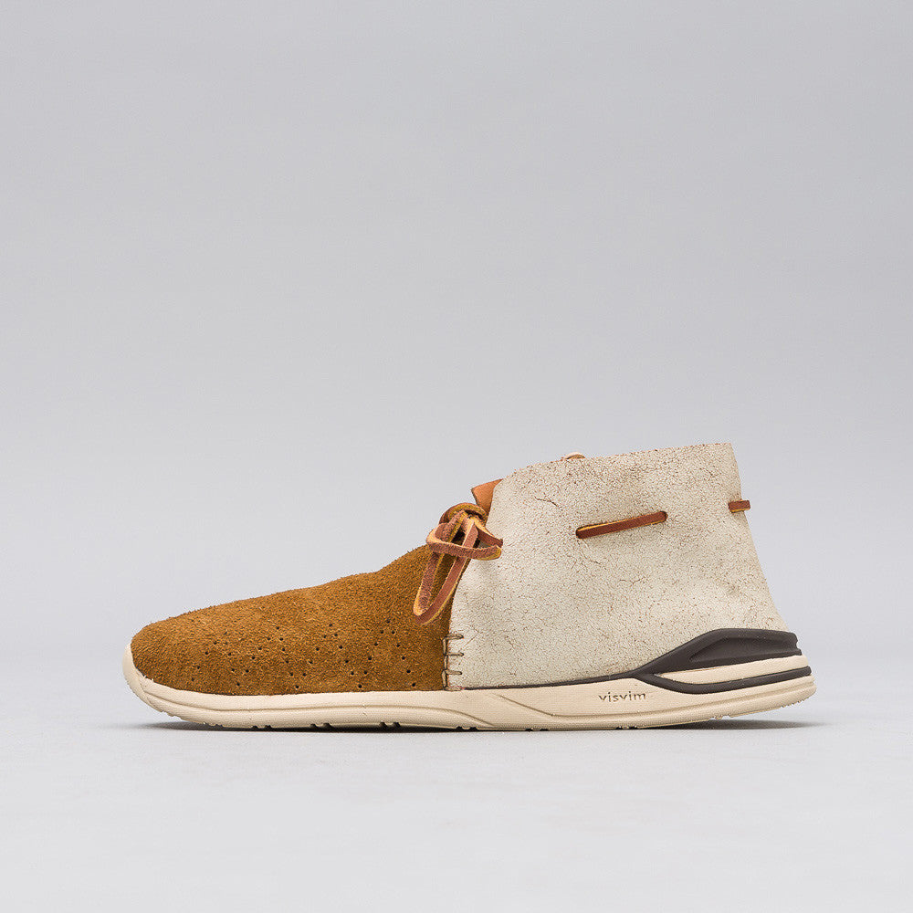 visvim Huron Leather Moc-Folk in Brown Notre