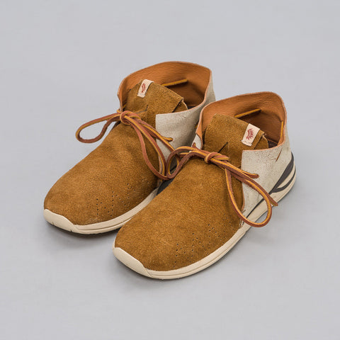 visvim Huron Leather Moc-Folk in Brown - Notre