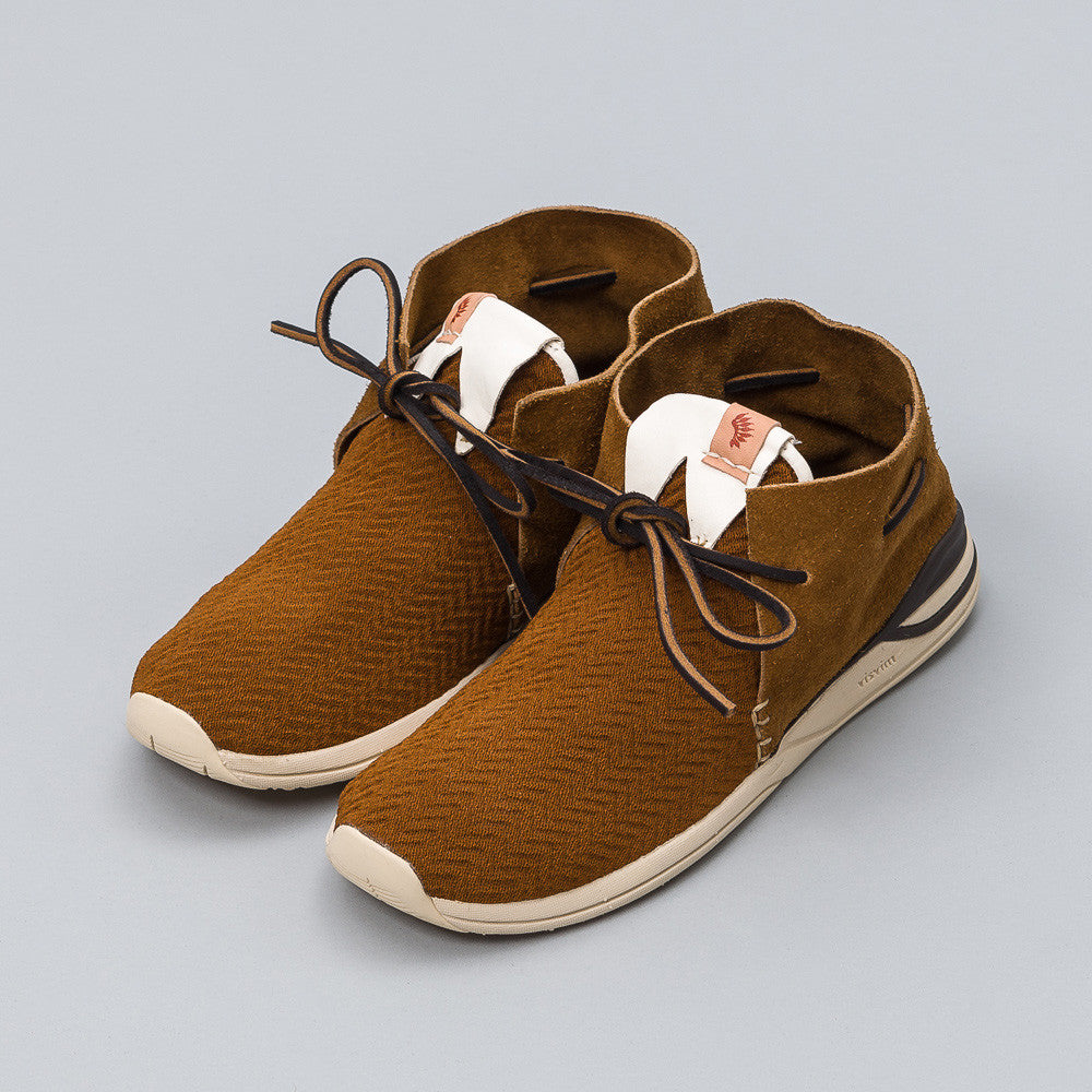 Visvim Huron Mesh Moc-Folk in Brown Side View