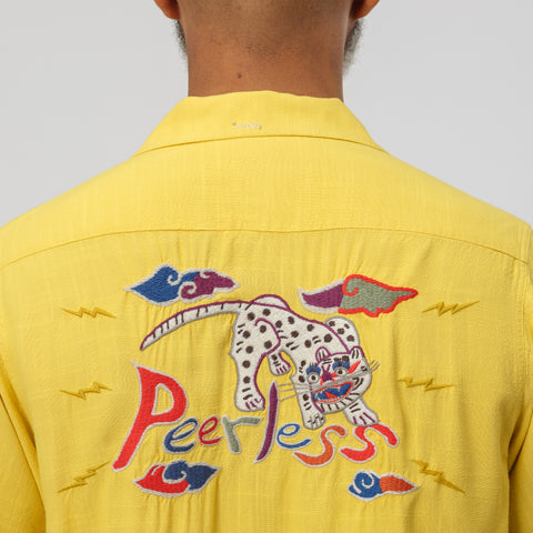 visvim Irving Shirt S/S in Yellow - Notre