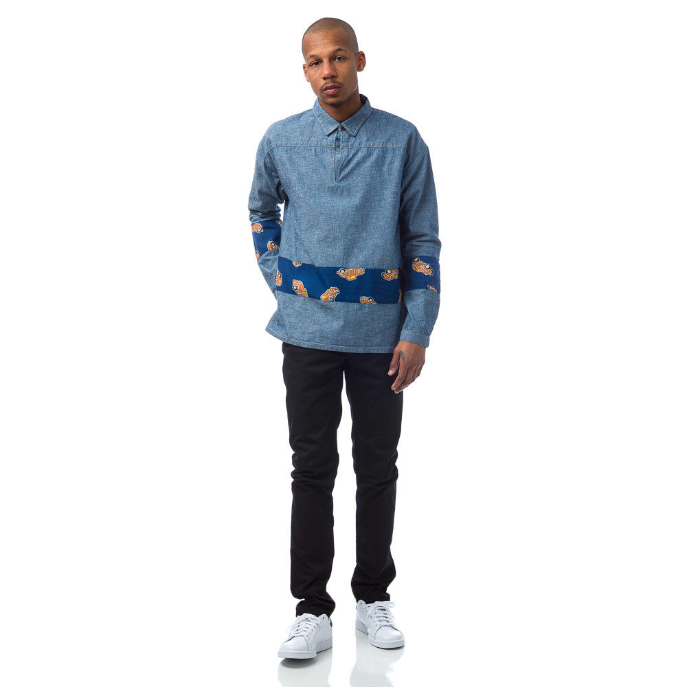 visvim - Kerchief Border Tunic in Chambray - Notre - 1