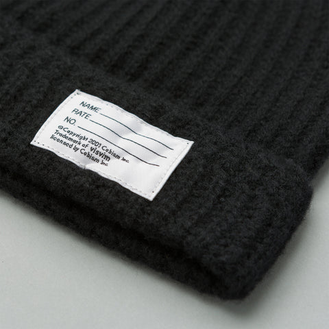 visvim Wool Knit Beanie in Black - Notre