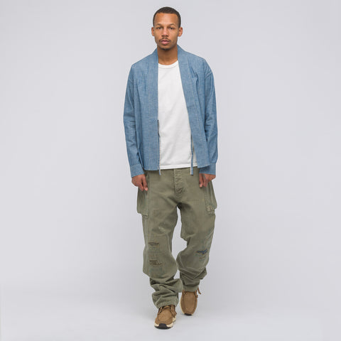 visvim Lhamo Shirt Chambray in Blue - Notre