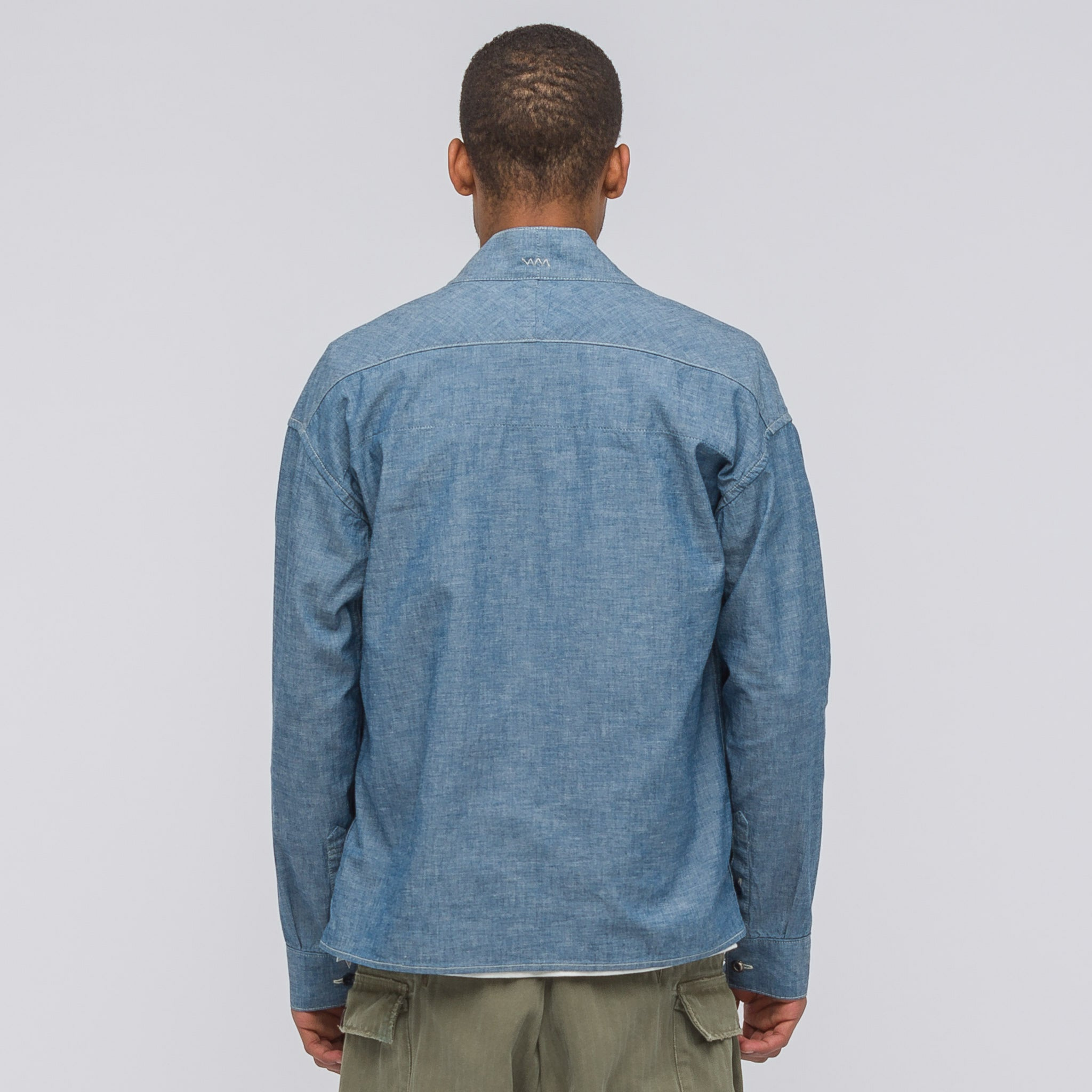Lhamo Shirt Chambray in Blue