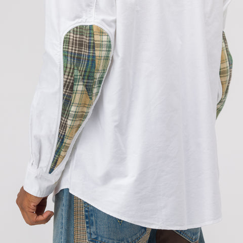 visvim Lungta Albacore Giza Long Sleeve Shirt in White - Notre
