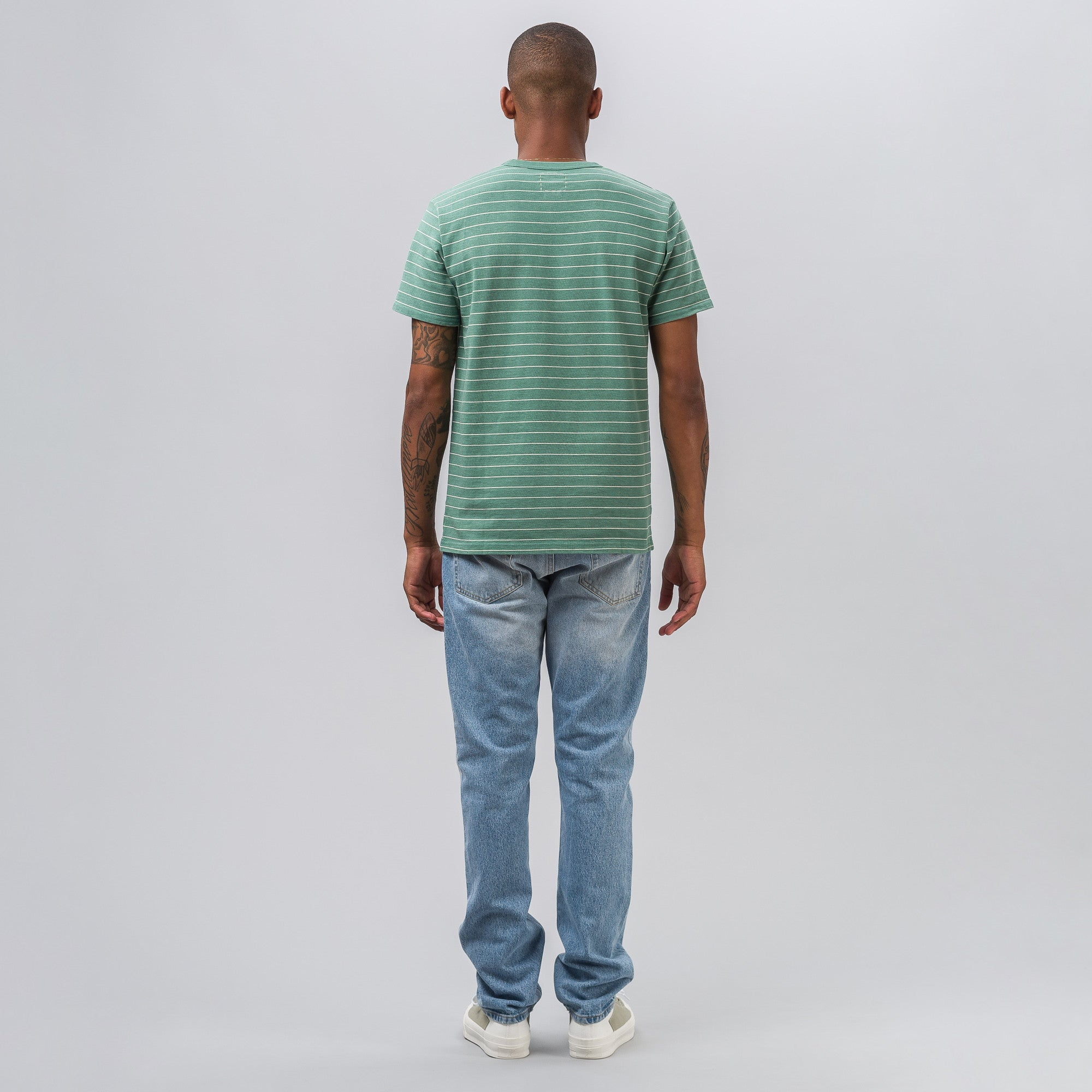 Mid Border Tee S/S in Green