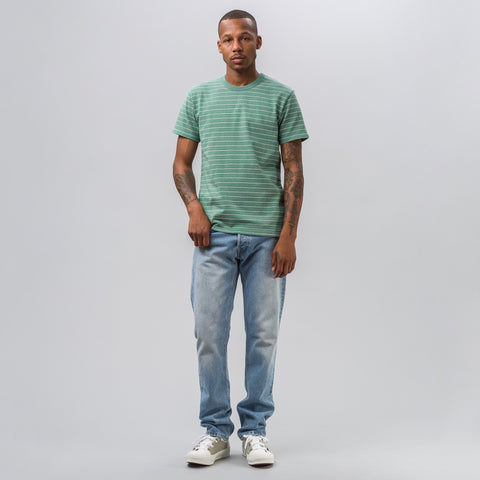 visvim Mid Border Tee S/S in Green - Notre