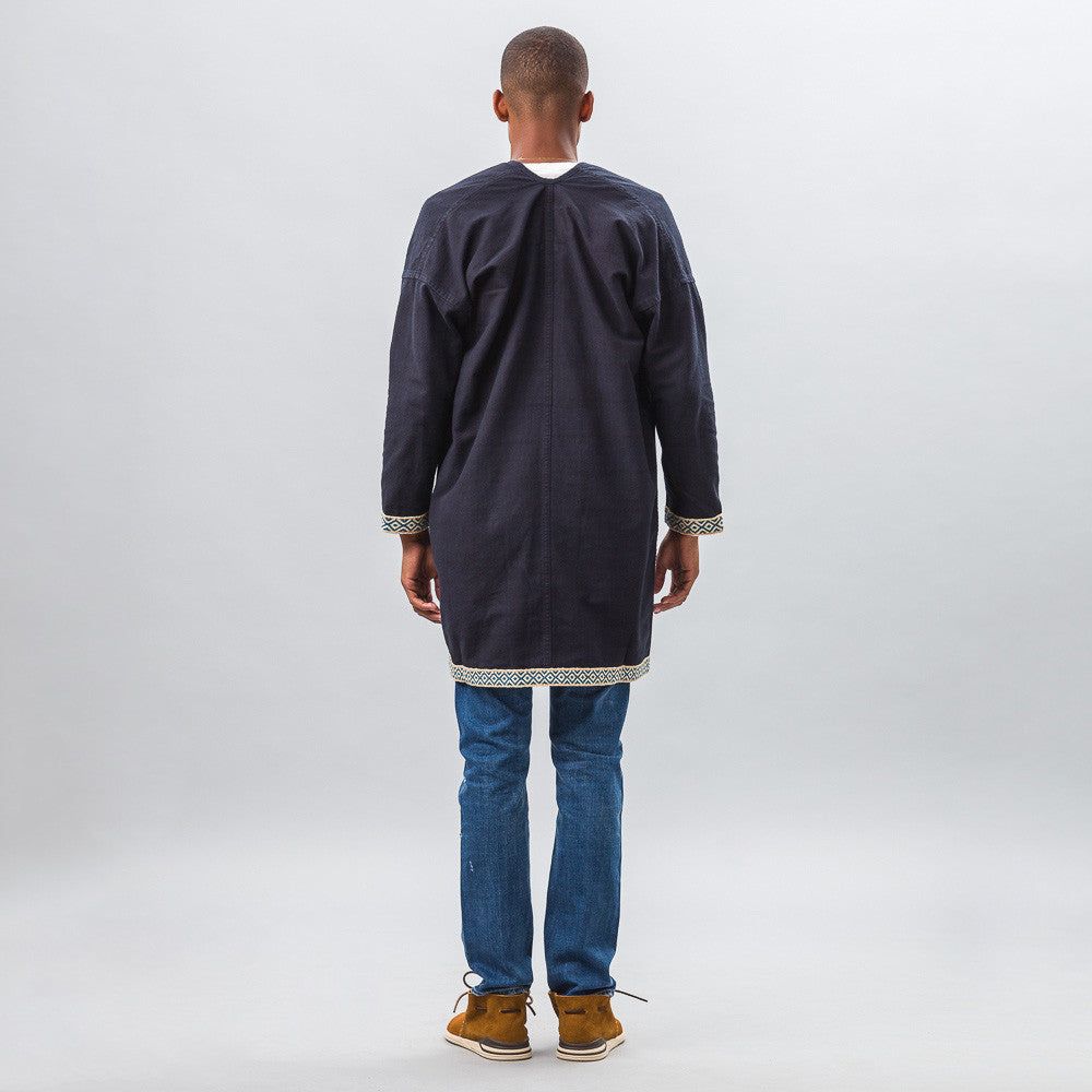 Sanjuro Coat Silk Road in Indigo