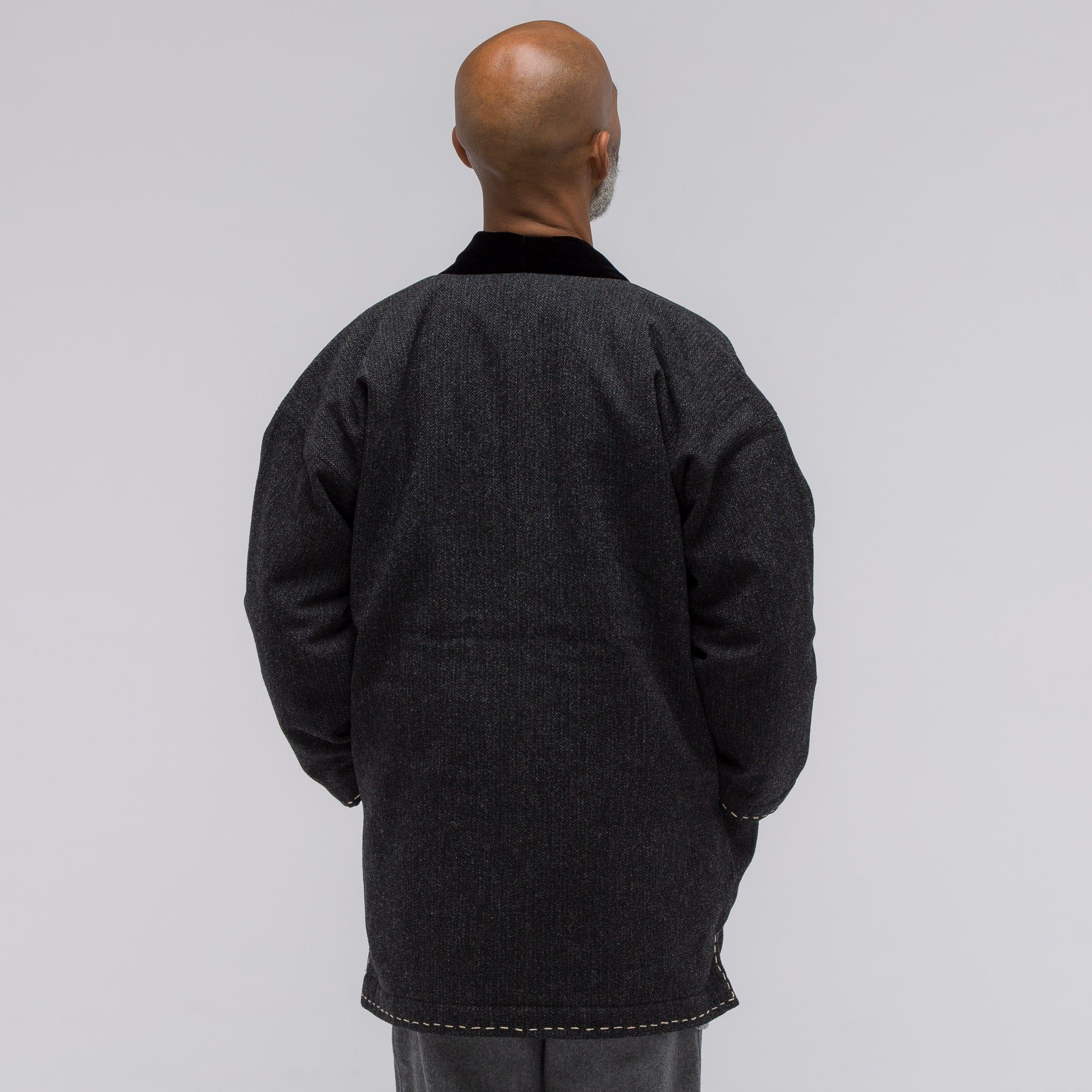 Dotera Coat in Herringbone Charcoal