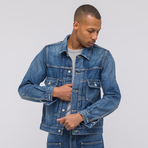 visvim SS 101 Jacket in Damaged Indigo - Notre